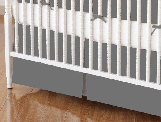 Dark Grey Crib Skirt