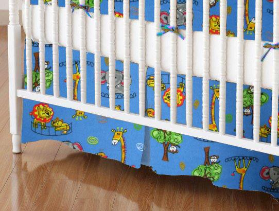 Crib Skirts - Crib Skirt - Jungle Adventure - Tailored
