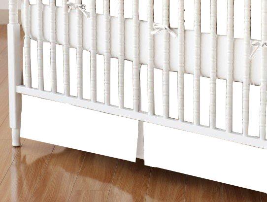 baby bedding - Mini Crib Skirts - Mini Crib Skirt - Flannel - White - Tailored - Mini Crib Skirts