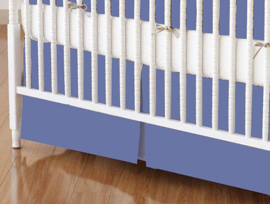 Flannel Denim Blue Portable Mini Crib Sheets Sheetworld