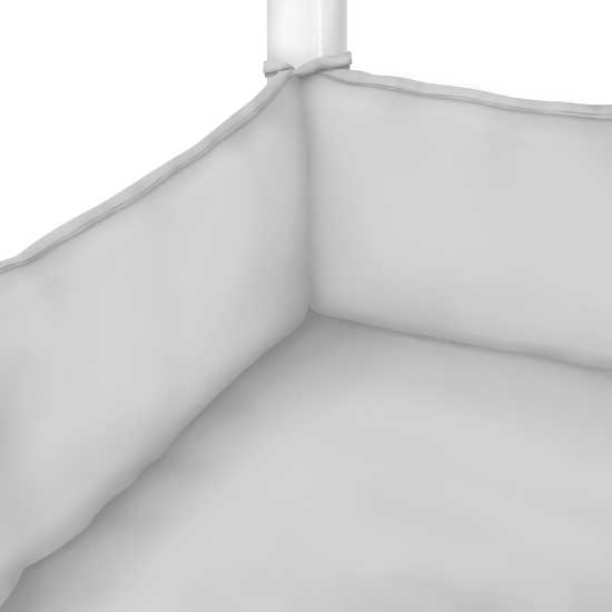 Silver Grey Jersey Knit Portable Mini Crib Sheets