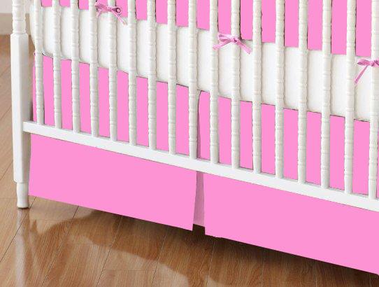 Crib Skirts – Crib Skirt – Hot Pink Jersey Knit – Tailored