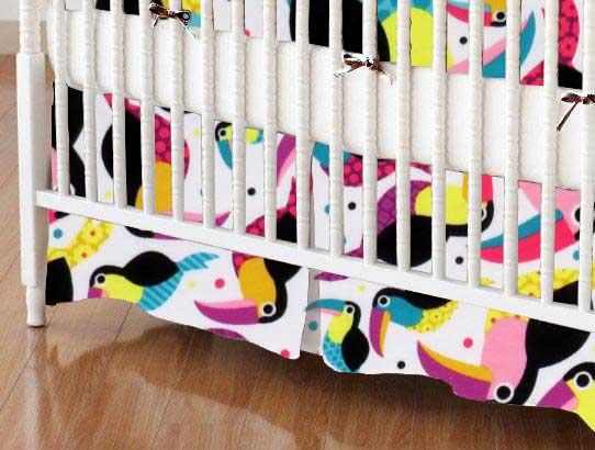 Toucans Jersey Knit Portable Mini Crib Sheets Sheetworld