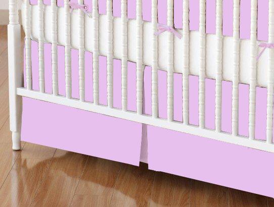 Mini Crib Skirts – Mini Crib Skirt – Solid Lavender Jersey Knit – Tailored