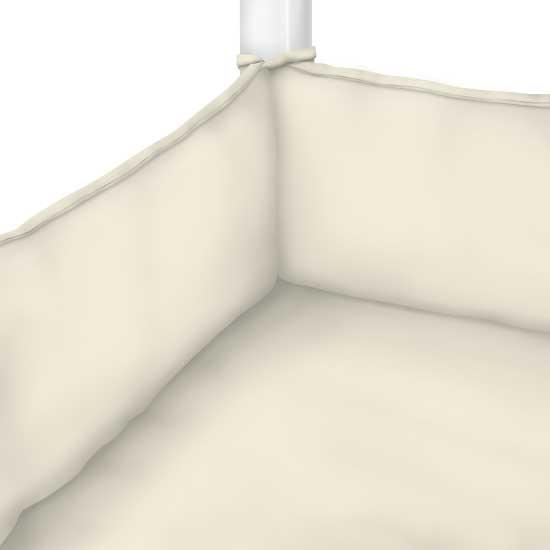 Organic Ivory Jersey Knit Portable Mini Crib Sheets
