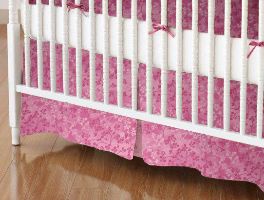 Mini Crib Skirts Mini Crib Skirt Pink Floral