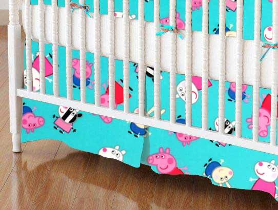 Peppa Pig Aqua Portable Mini Crib Sheets Sheetworld