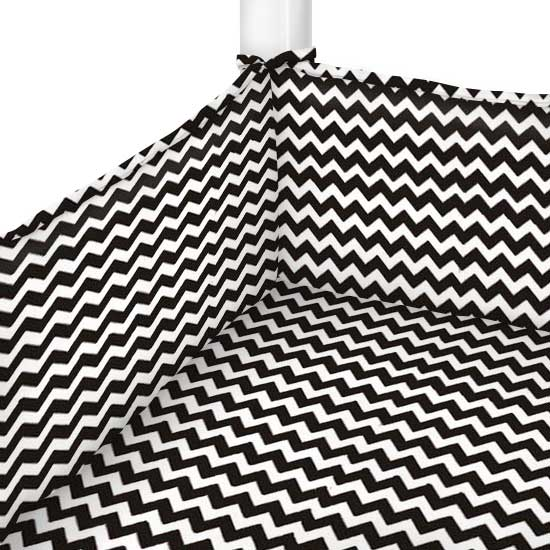 Black Chevron Zigzag Portable Mini Crib Sheets