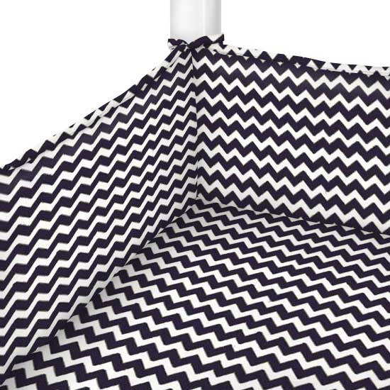 Navy Chevron Zigzag Portable Mini Crib Sheets Sheetworld