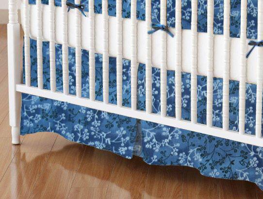 mini crib skirts mini crib skirt flannel denim blue
