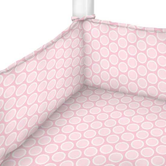 Pastel Pink Bubbles Woven Portable Mini Crib Sheets