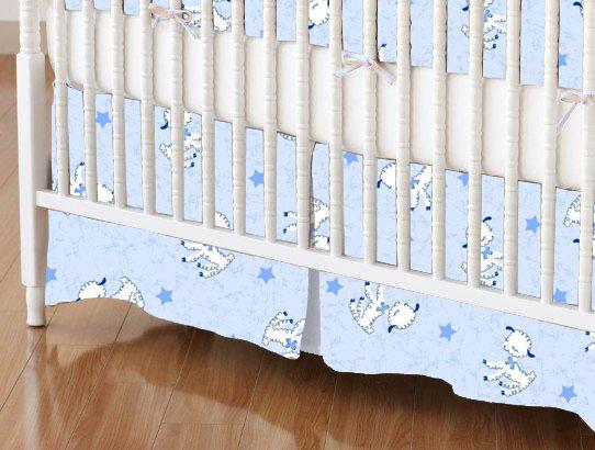 Crib Skirts - Crib Skirt - Baby Lambs - Tailored