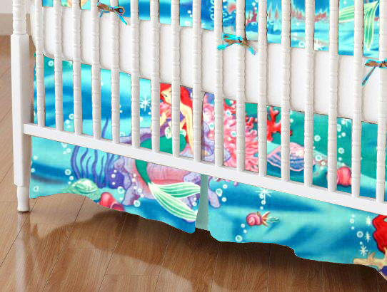 Mini Crib Skirt Little Mermaid Mini Crib Skirts Sheets