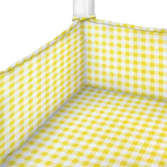 Yellow Gingham Check Cradle Sheets Sheetworld