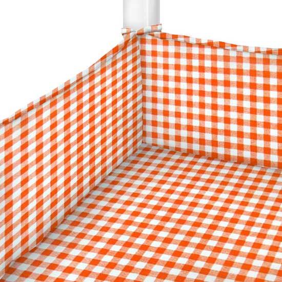 Orange Gingham Check Portable Mini Crib Sheets