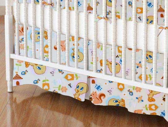 Tweety Bird Cream Portable Mini Crib Sheets Sheetworld