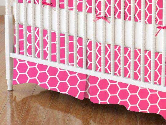 Hot Pink Honeycomb Portable Mini Crib Sheets Sheetworld