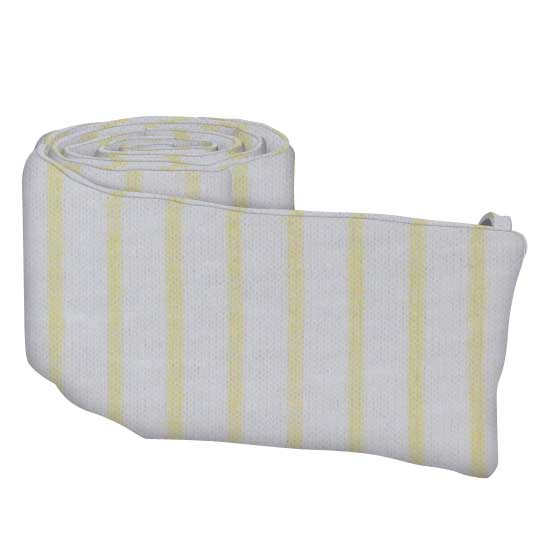 Yellow Stripes Jersey Knit Cradle Bumpers Sheetworld