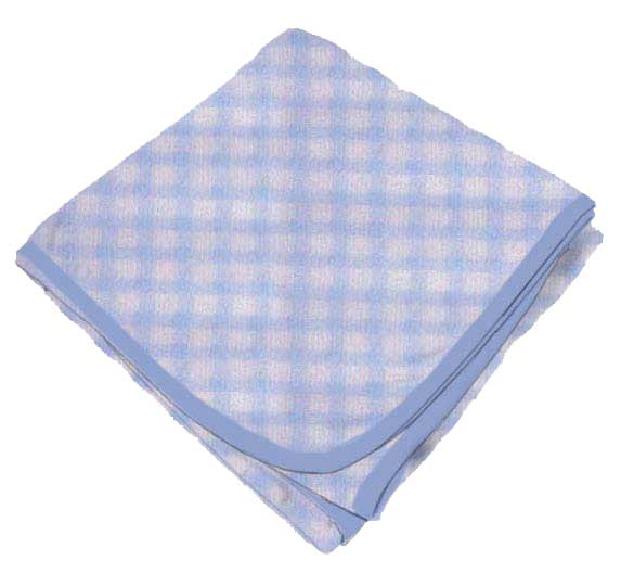 Blue Gingham Check Receiving Blanket Baby Blankets