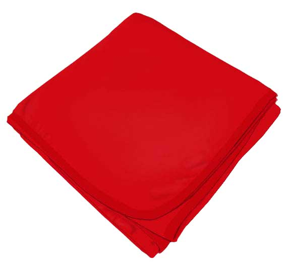 Solid Red Flannel Baby Blankets Sheetworld