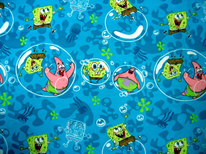 Crib / Toddler - Sponge Bob - Sheet Set (flat, fitted,baby pillow case)