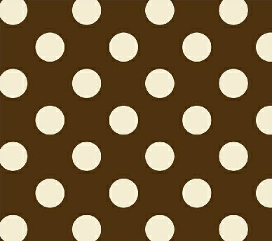 Basket - Cream Polka Dots Brown Woven - Fitted
