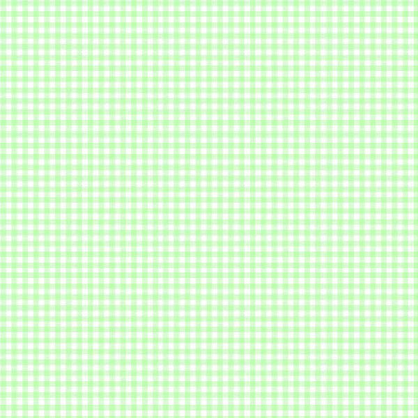 European Crib - Pastel Green Gingham Woven - Fitted