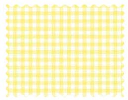 Pastel Yellow Gingham Woven Fabric Fabric Shop Sheets