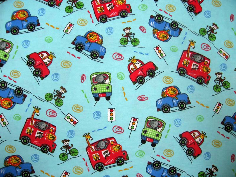 baby bedding - Portable / Mini Crib - Animal Traffic Blue - Fitted (24x39x3) - Portable / Mini Crib Sheets