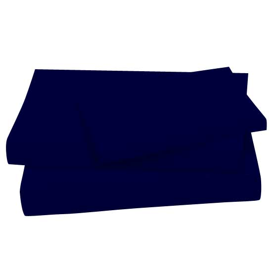 Solid Navy 100 Percent Cotton Jersey Knit Twin Sheets