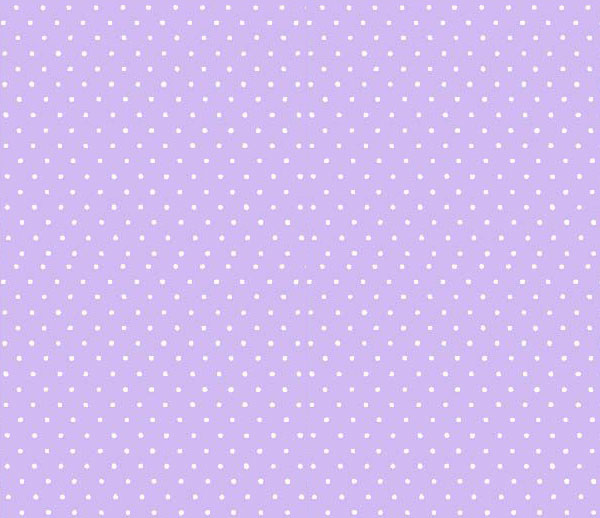 European Crib – Pastel Lavender Pindots Woven – Fitted