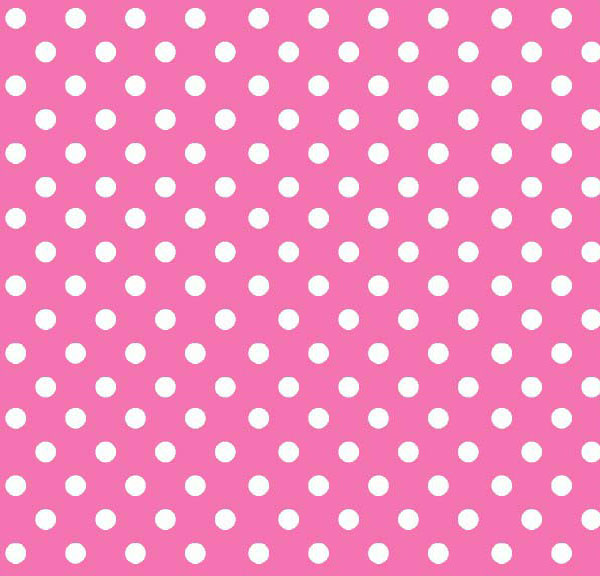 Crib / Toddler – Primary Polka Dots Pink Woven – Matching Bumper