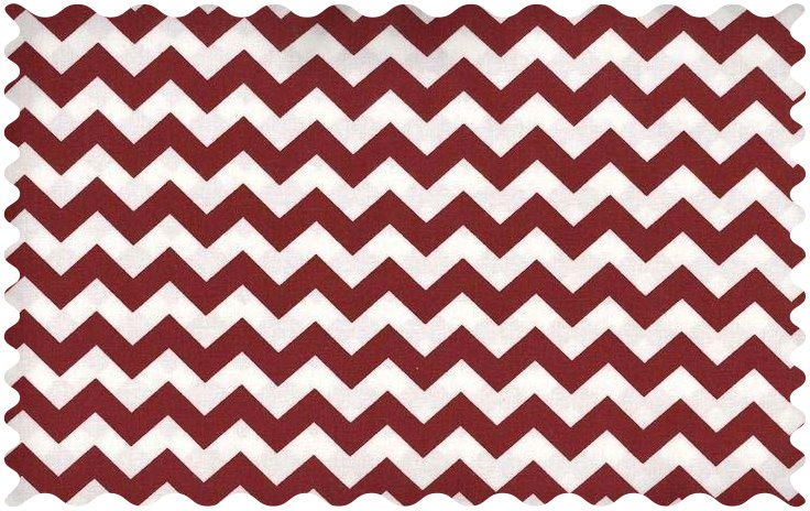 Fabric Shop - Burgundy Chevron Zigzag Fabric - Yard