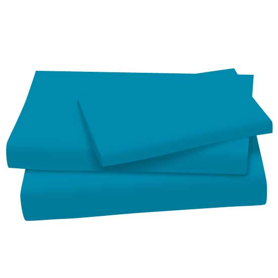 Turquoise | Cotton | Pillow | Jersey | Sheet | Twin | Set