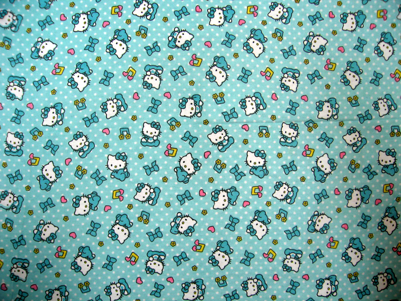 baby bedding - Round Crib - Hello Kitty Blue - 45'' Fitted - Round Crib Sheets