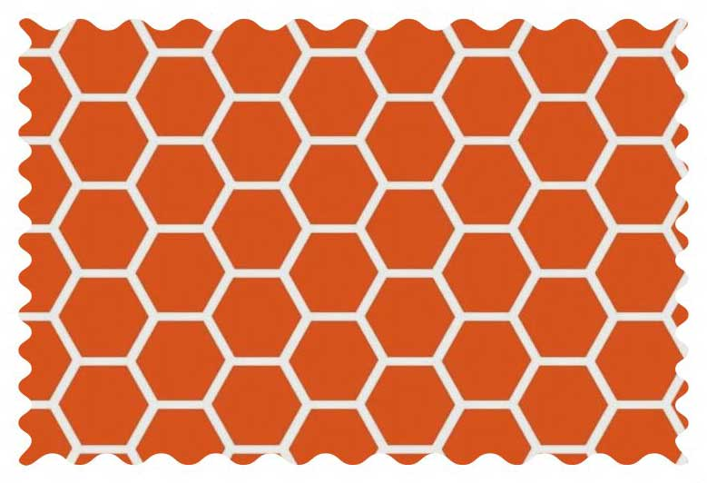 Burnt Orange Honeycomb Fabric Fabric Shop Sheets