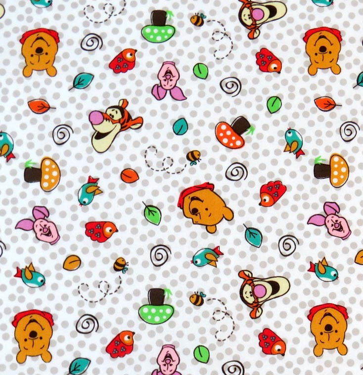SheetWorld Fitted Pack N Play Sheet - Pooh & Friends Dots - 29.5