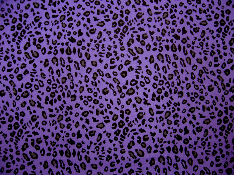 Portable / Mini Crib – Purple Leopard – Matching Comforter