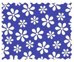 Fabric Shop – Primary Royal Floral Woven Fabric – Yard