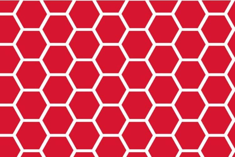 """SheetWorld Fitted Square Playard Sheet (Fits Joovy) - Red Honeycomb - 37 1/2"""" x 37 1/2"""" - Made In USA ..."""