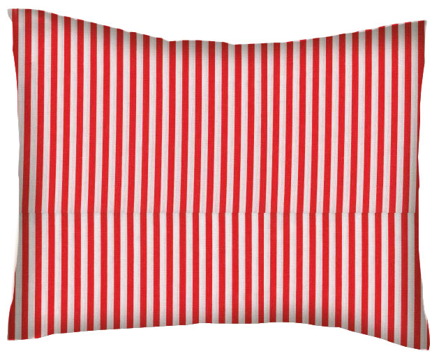 Percale Pillow Sham Red Stripe