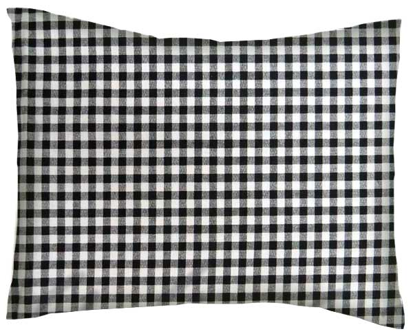 Percale Pillow Case Black Gingham Check Twin Pillow