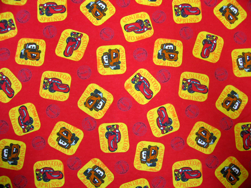 baby bedding - Round Crib - CARS Red - 42'' Fitted - Round Crib Sheets
