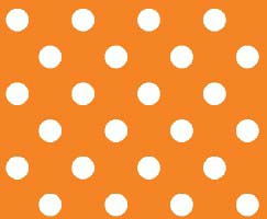 Travel Crib Light (Fits BabyBjorn) – Primary Polka Dots Orange Woven – Fitted