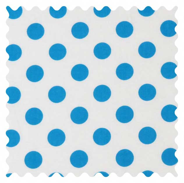 Turquoise Polka Dots Fabric Fabric Shop Sheets Sheetworld