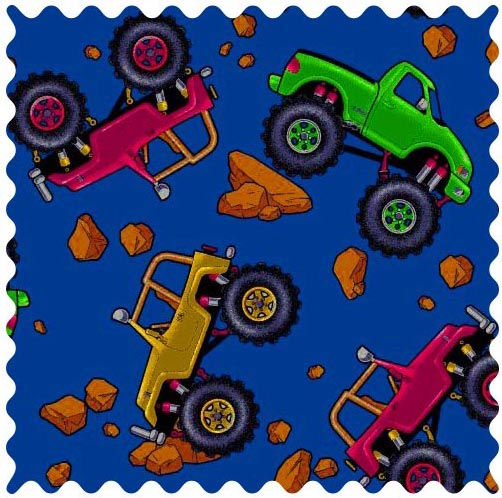 Fabric shop monster trucks fabric yard baby crib for Baby monster fabric