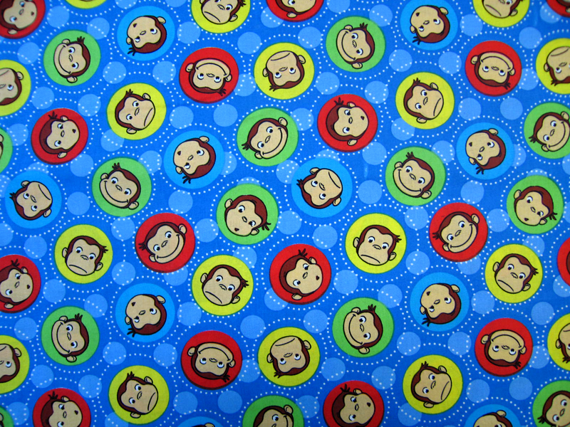 SheetWorld Fitted Square Playard Sheet (Fits Joovy) - Curious George Blue - 37 1/2