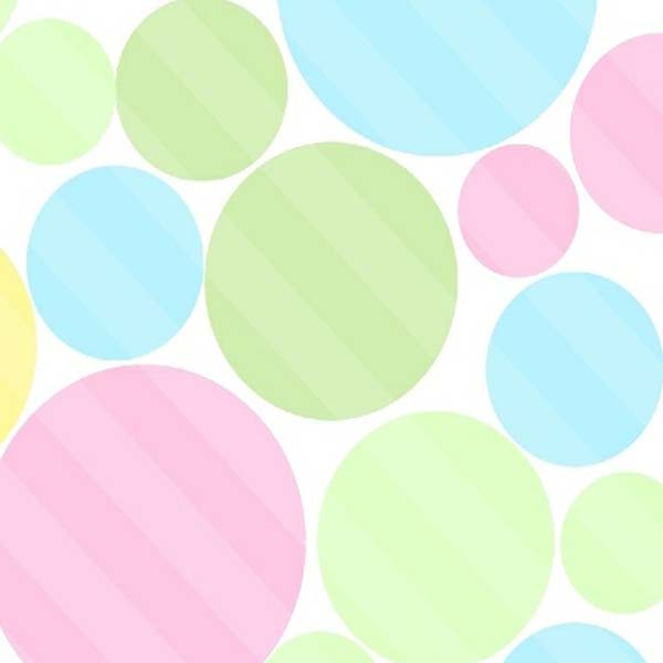 "Round Crib – Pastel Colorful Dots – 42"" Fitted"