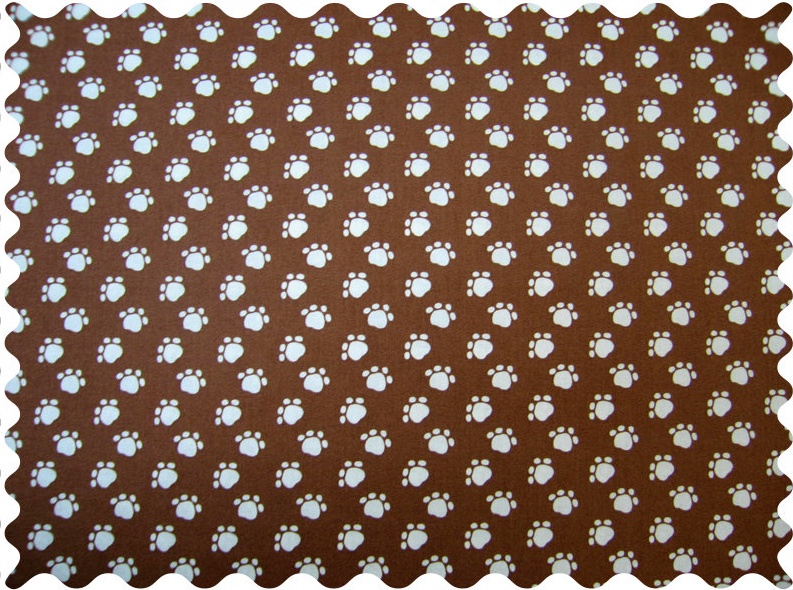 Fabric Shop - Dog Paws Brown Fabric - Yard
