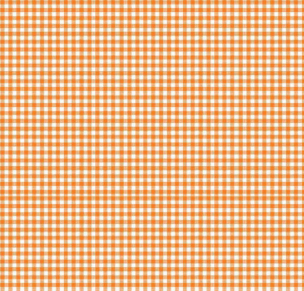 Portable / Mini Crib – Primary Orange Gingham Woven – Fitted (24x39x3)